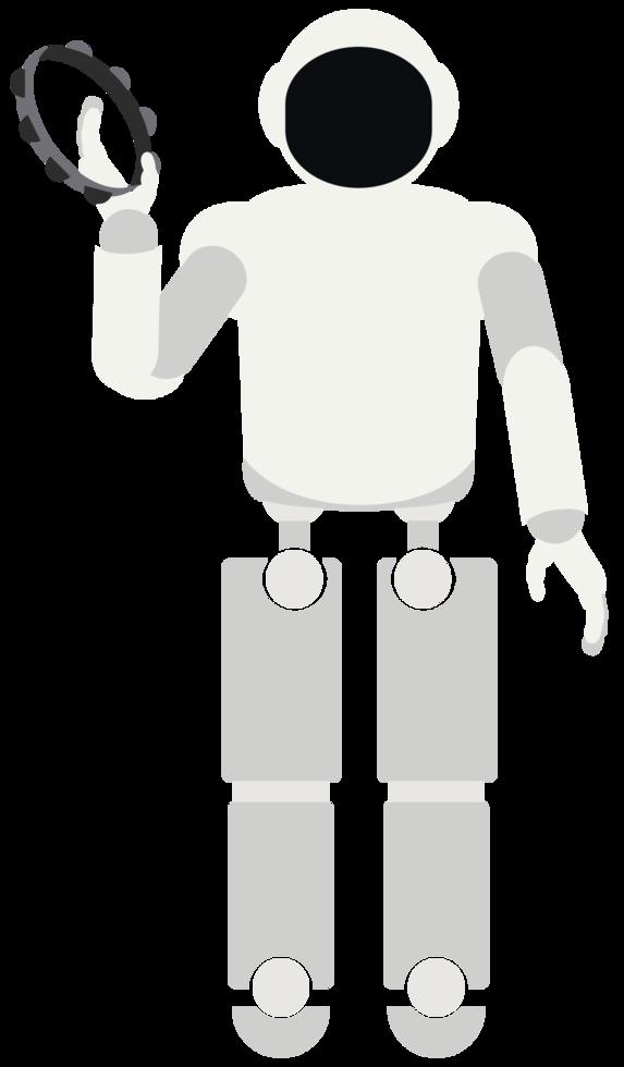 robot jouant de la musique tambourin png