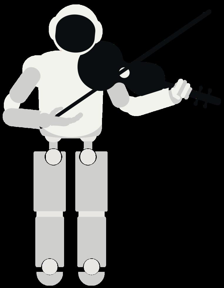 robot jouer de la musique violon png