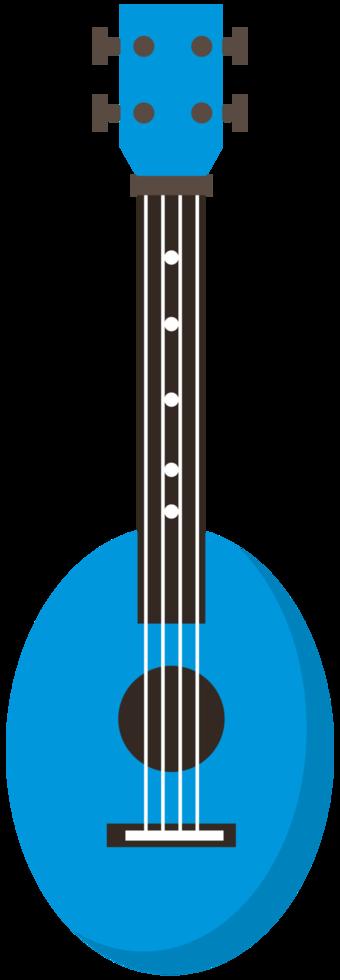 färgglada ukulele png