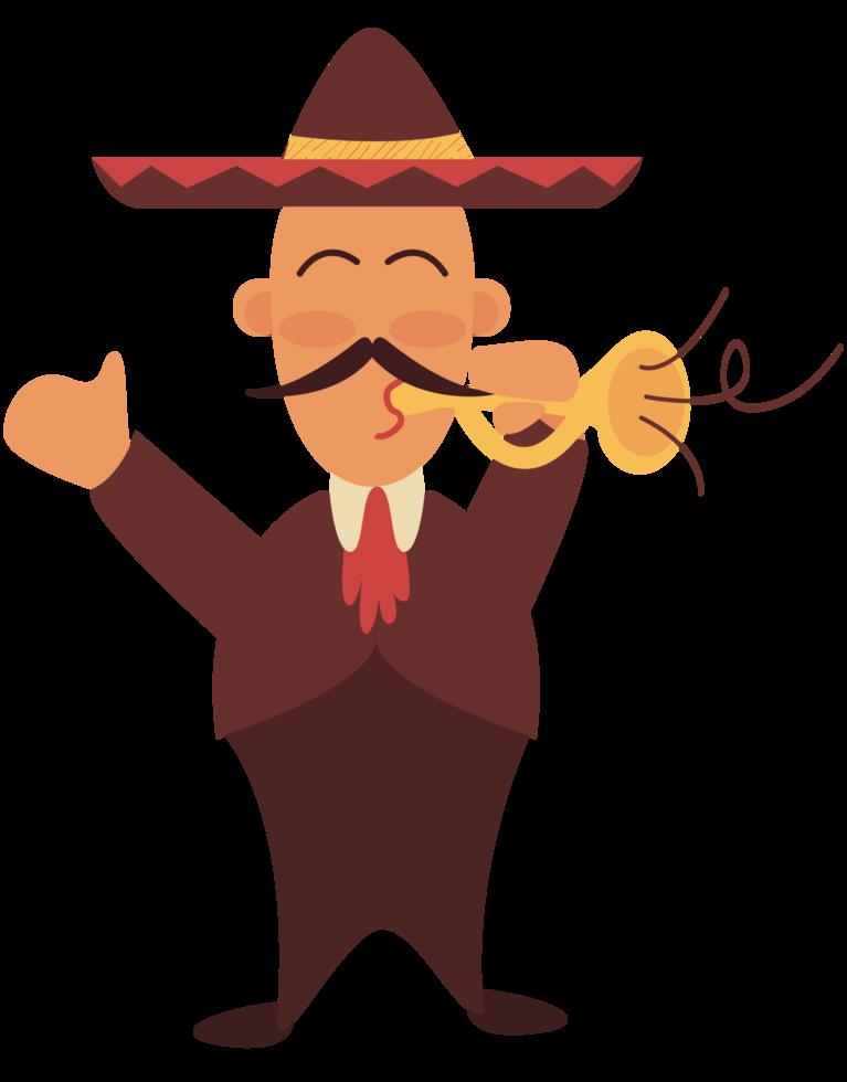 mariachi-speler trumphet png