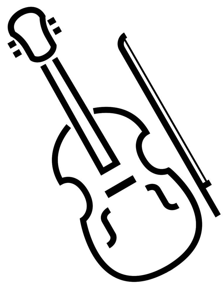 violon instrument de musique linéaire png