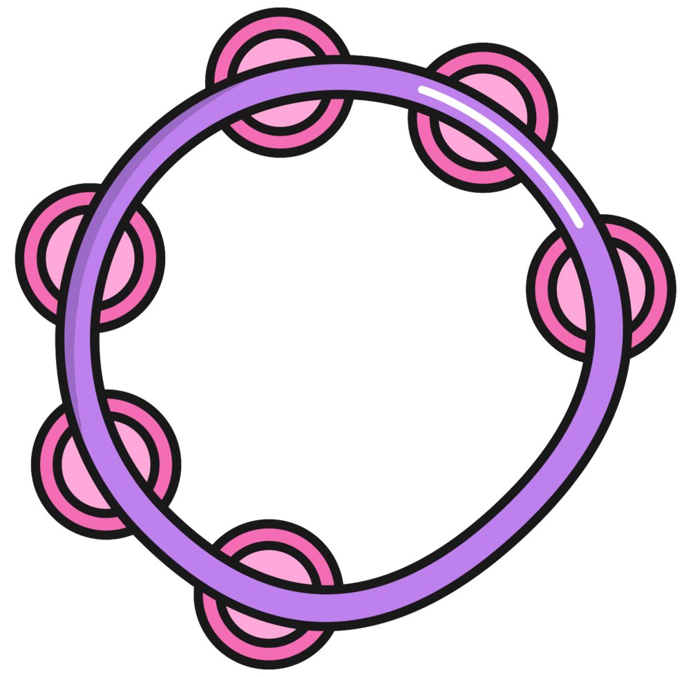 Percussion instrument tambourine png