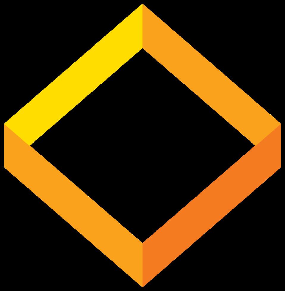 quadrado 3d geométrico png