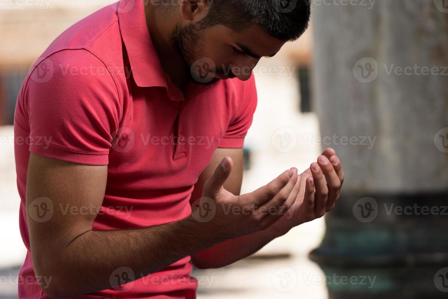 Muslim Praying In Mosque photo