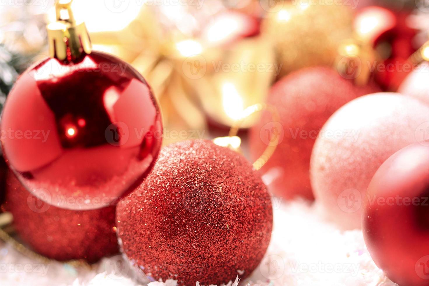 decoración del árbol de navidad foto