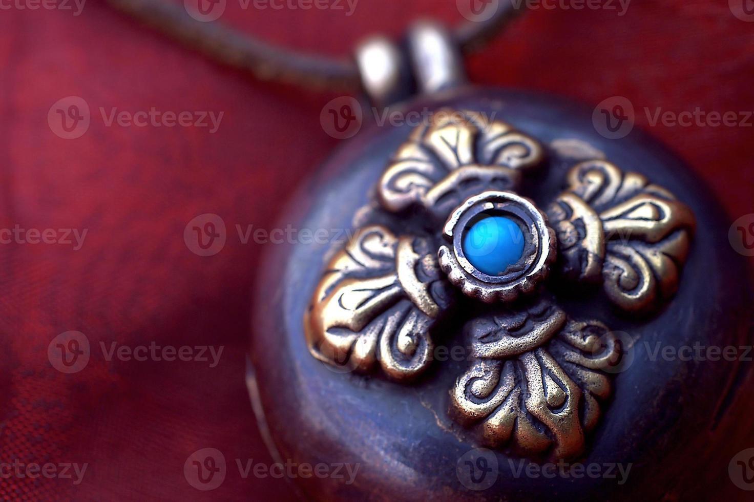 Tibetaans amulet foto
