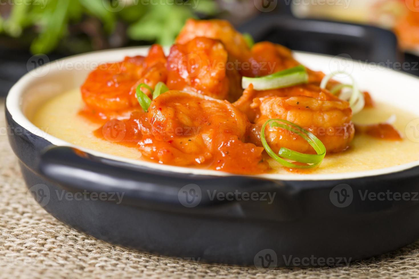 Spicy Prawns & Polenta photo