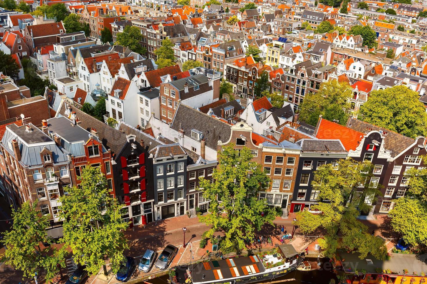 Amsterdam city view from Westerkerk, Holland, Netherlands. photo