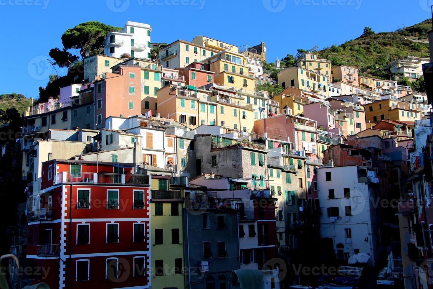 riomaggiore ( cinque terre) - colorful houses photo
