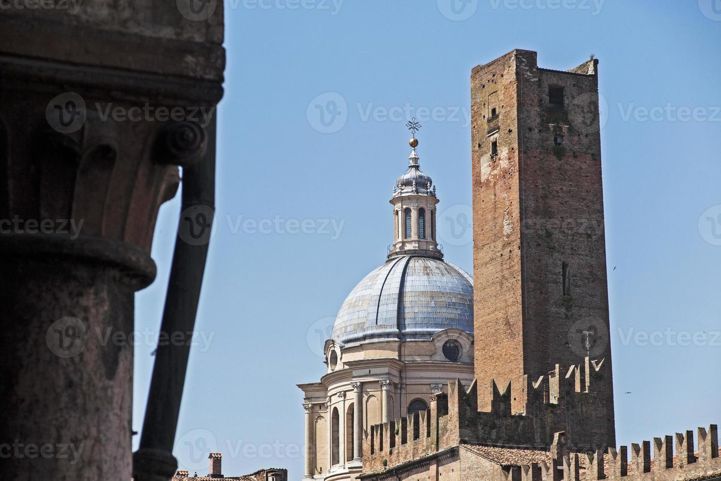 Mantua, Italy, Sordello Square, tower and Dome photo