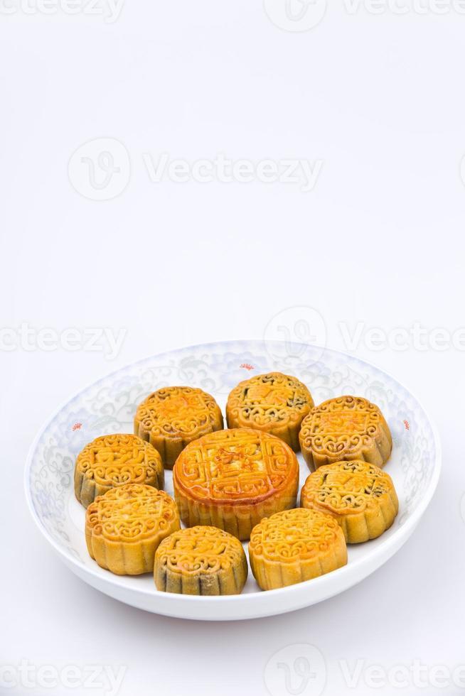 comida tradicional china - pastel de luna foto