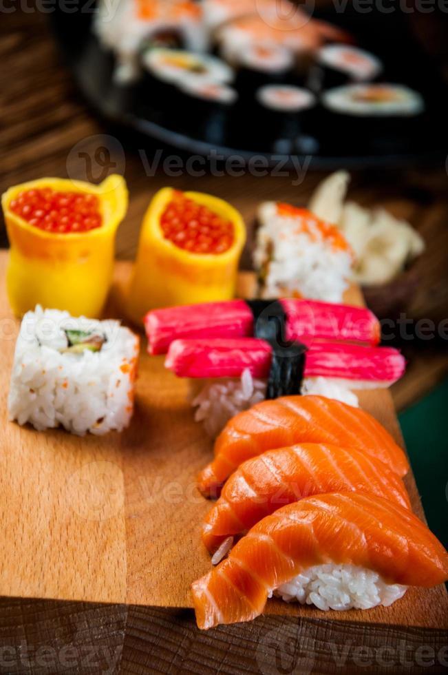 tema oriental con sushi foto