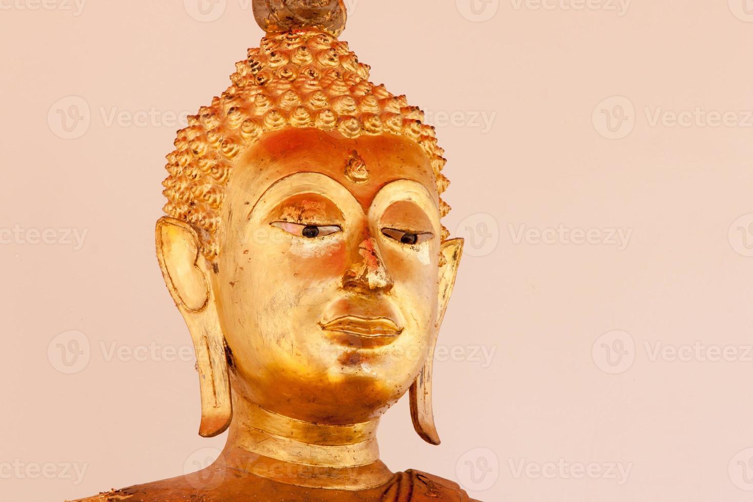 Buddha statue oblique angle photo