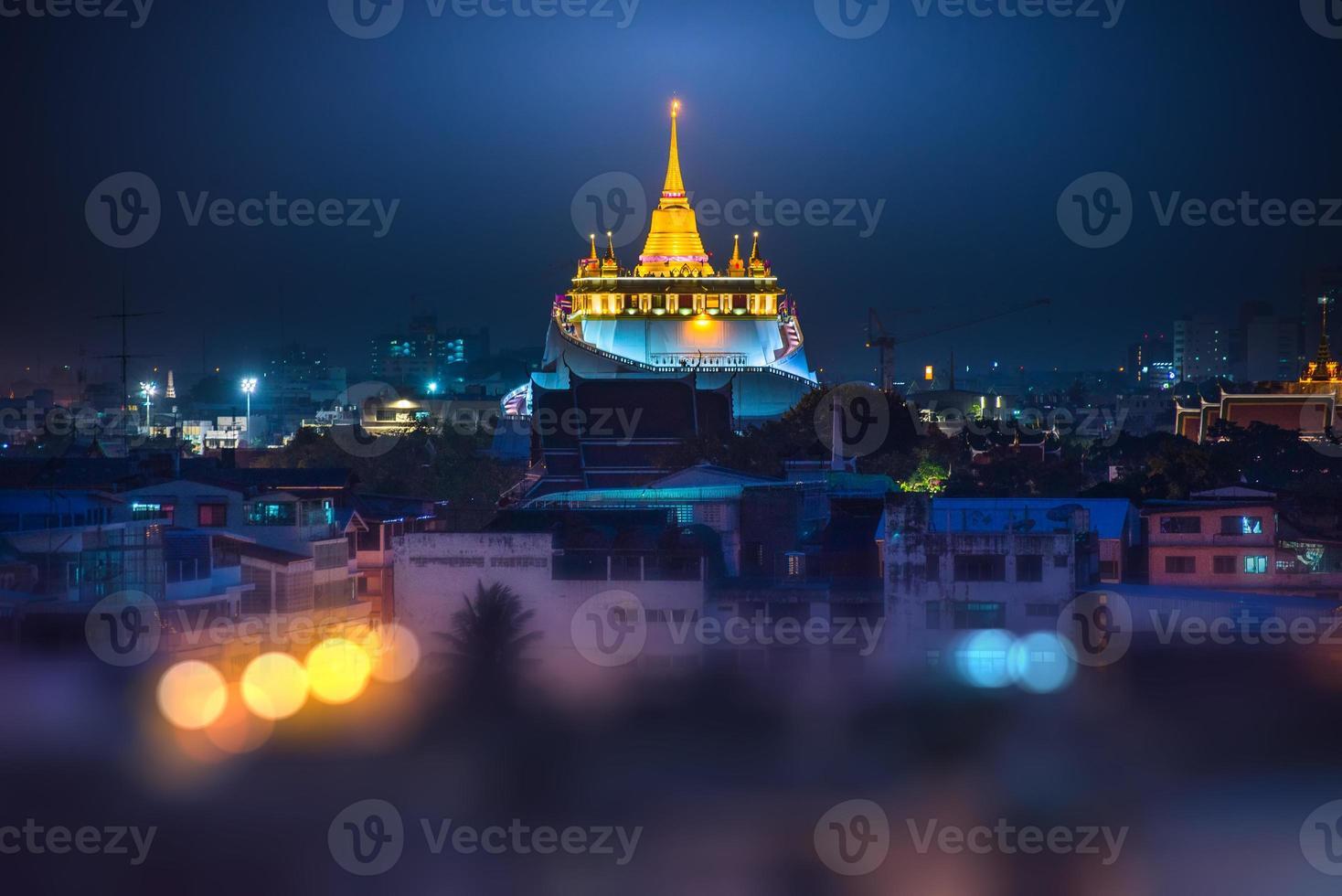 Golden Mount Temple in Bangkok (Wat Sraket, Thailand) photo