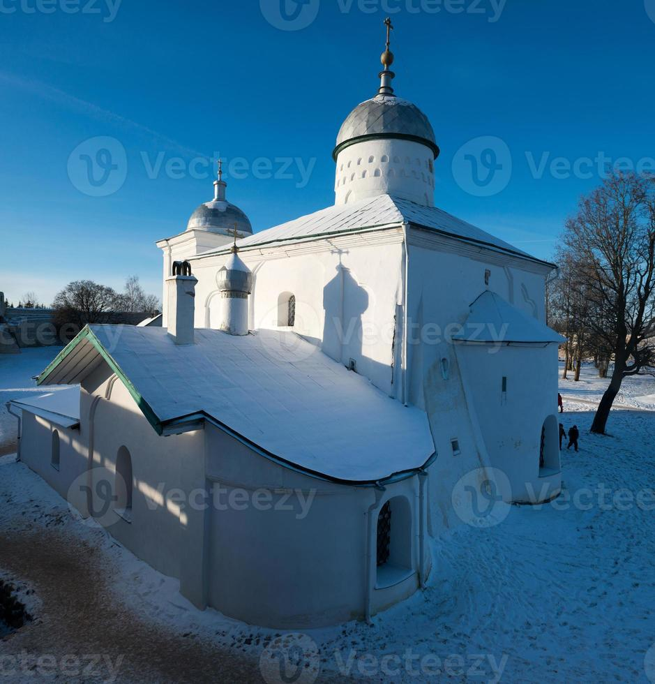 Old fortress since 14 century located in Izborsk photo