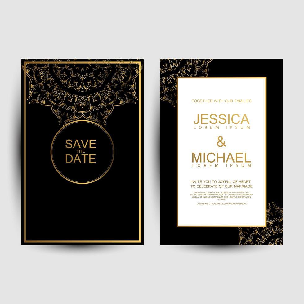 Luxury wedding cards  vector