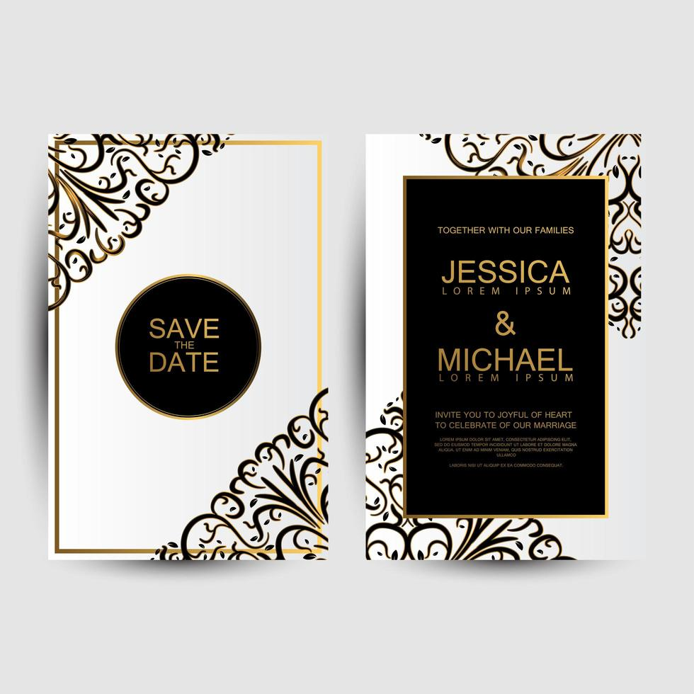 Floral save the dates  vector