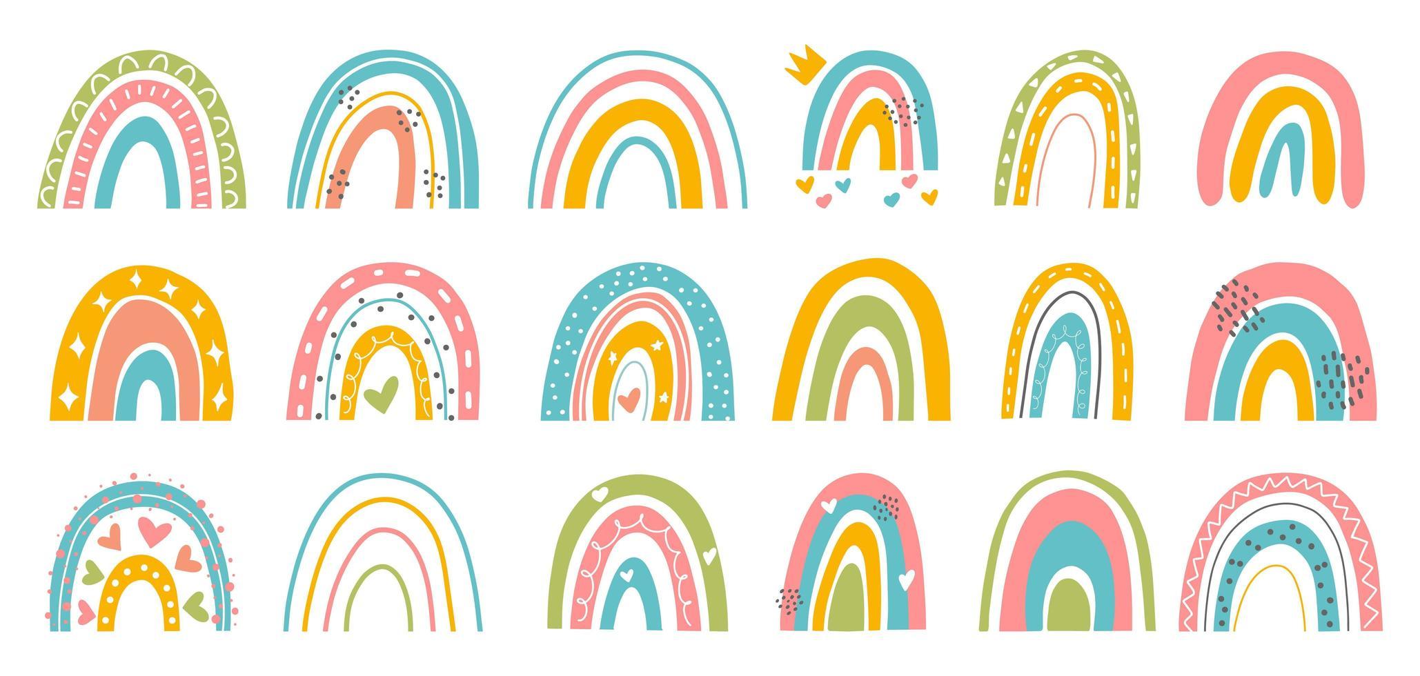 Abstract rainbow set vector