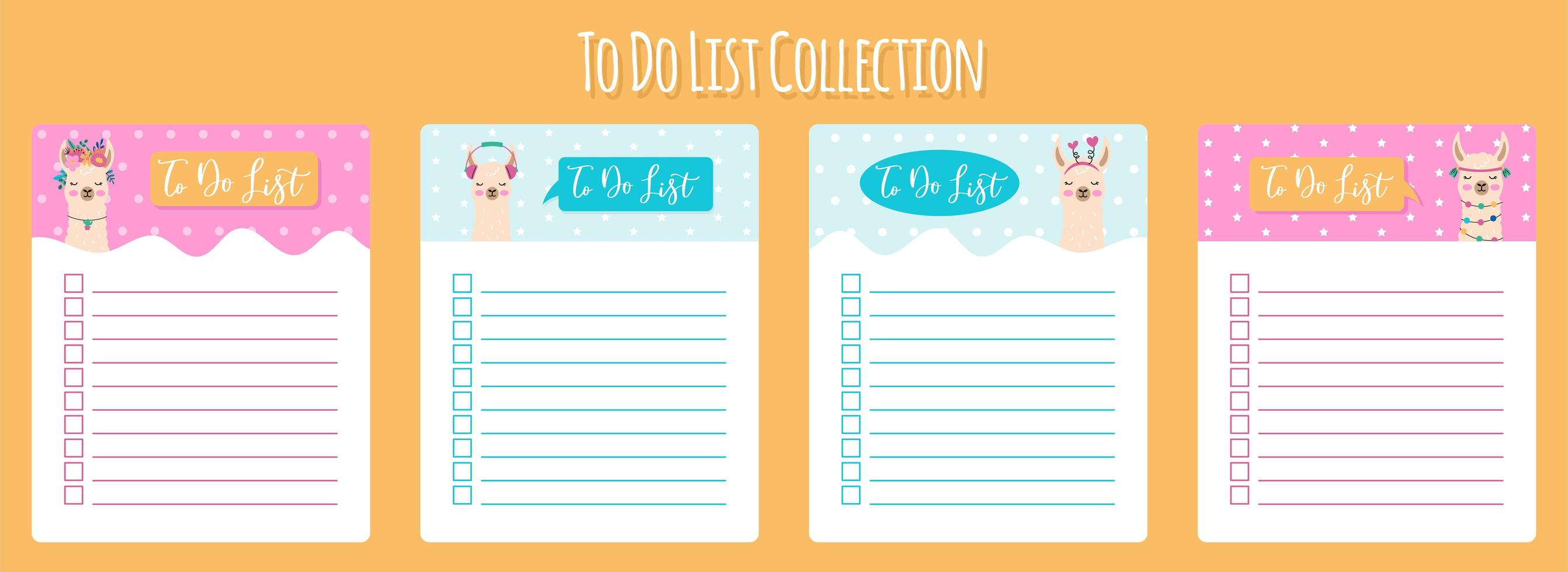 Scandinavian Weekly and Daily Planner Template vector