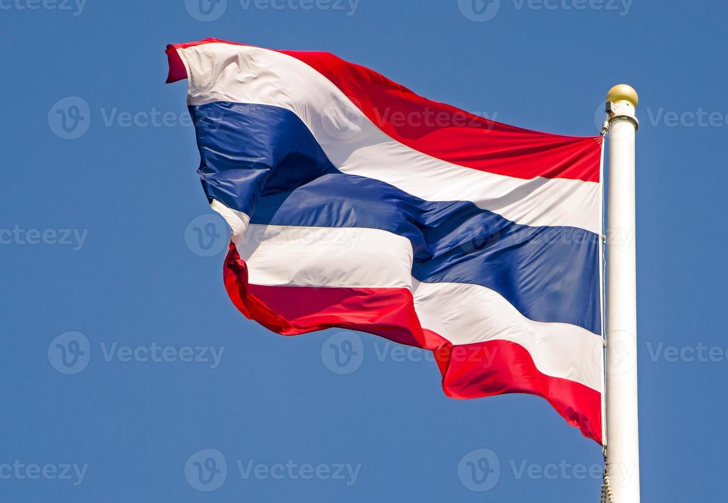 Thailand flag blows in the wind photo