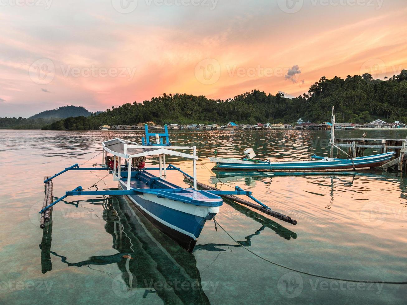 Sulawesi traditional boat photo