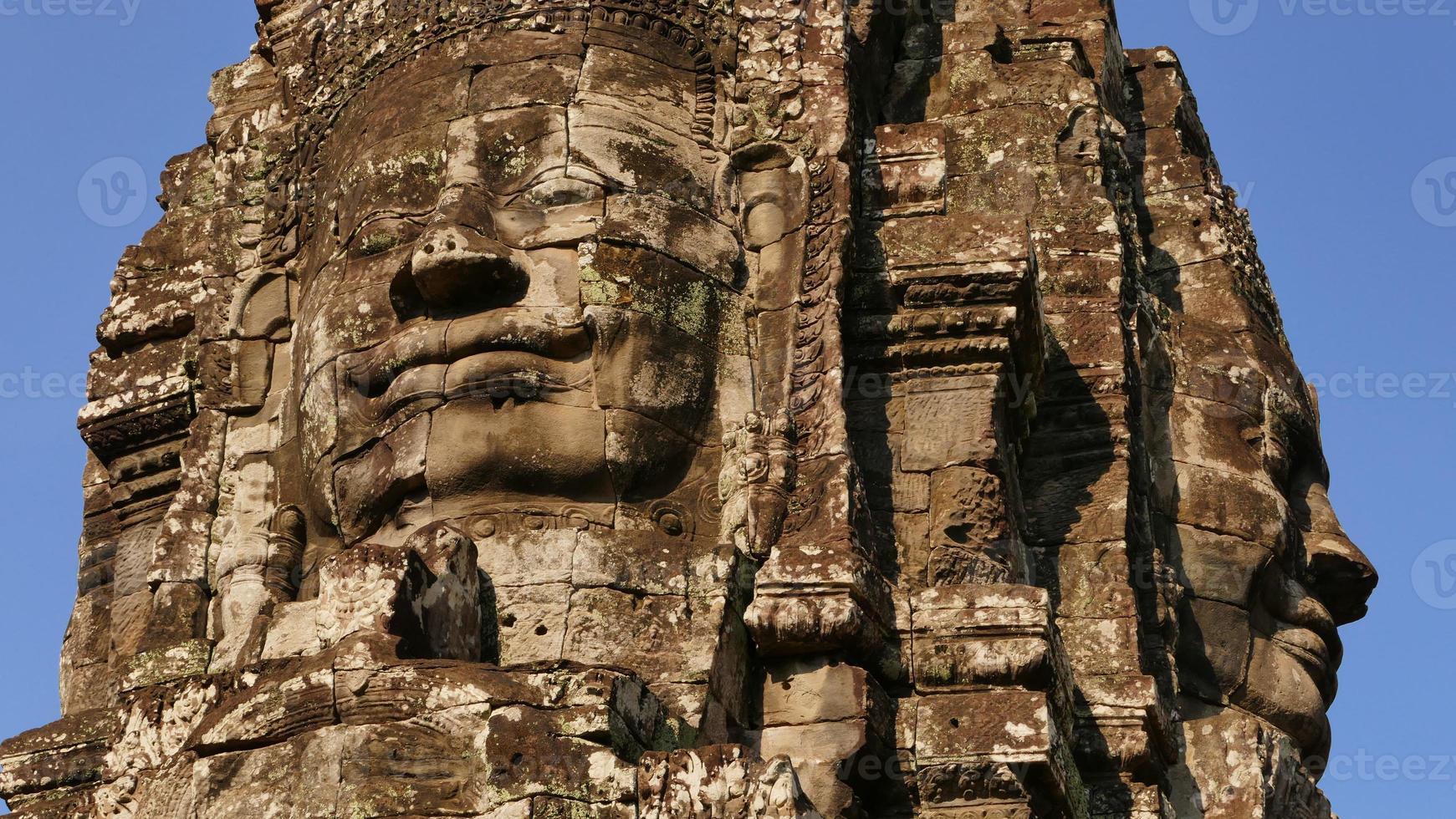 Bayon Temple of Angkor Thom in Cambodia photo