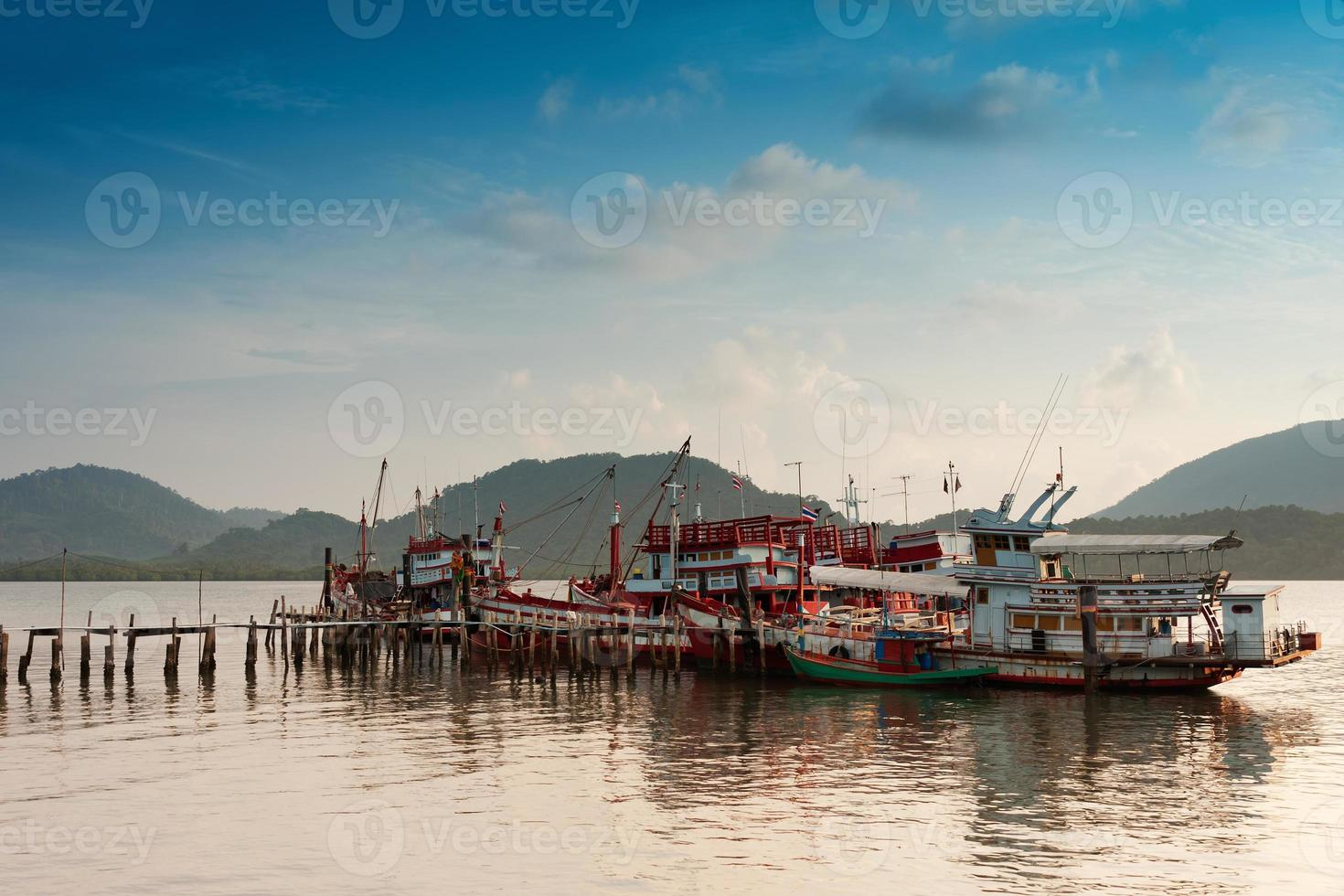 Fishing boat harbour photo