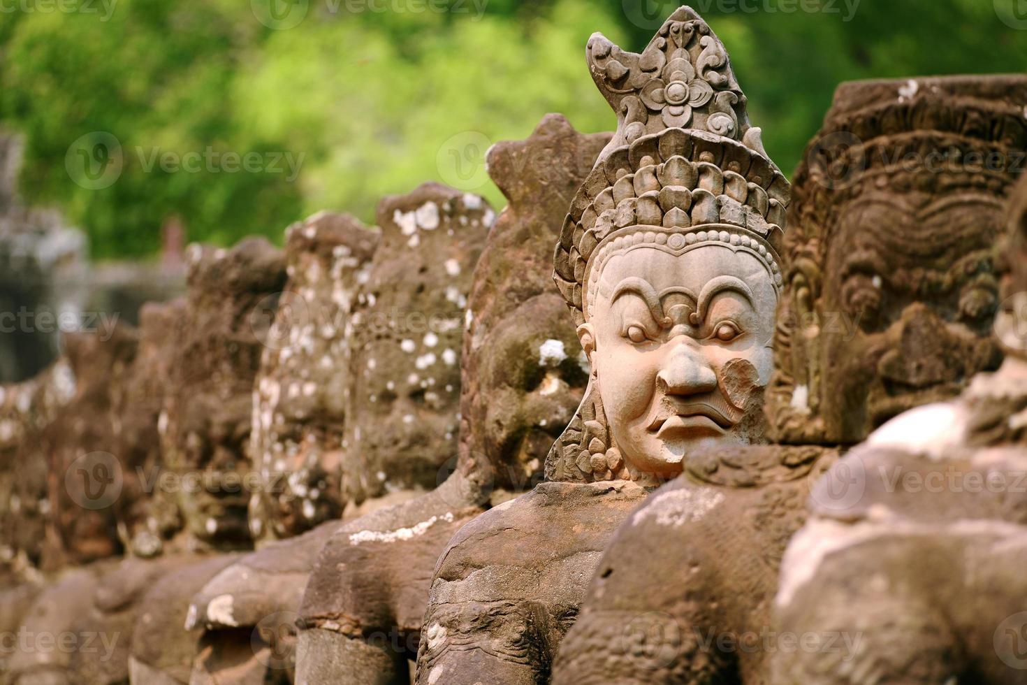 Giant at Angkor Wat Entrance Siem Reap Province, Cambodia photo