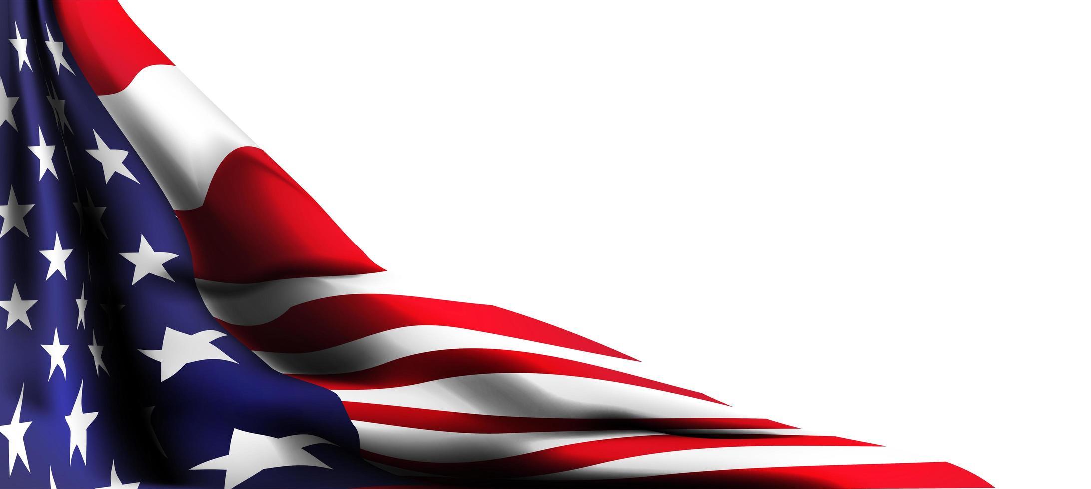 4 de julio decoración de la bandera americana con espacio para texto vector