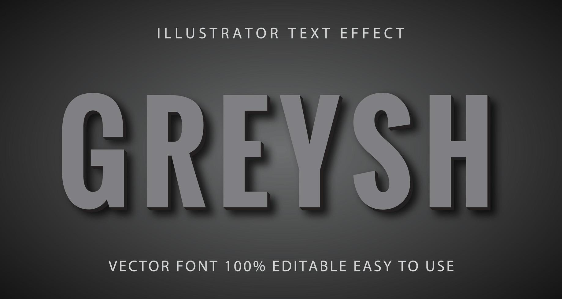 cinza cinza com efeito de texto de sombra vetor