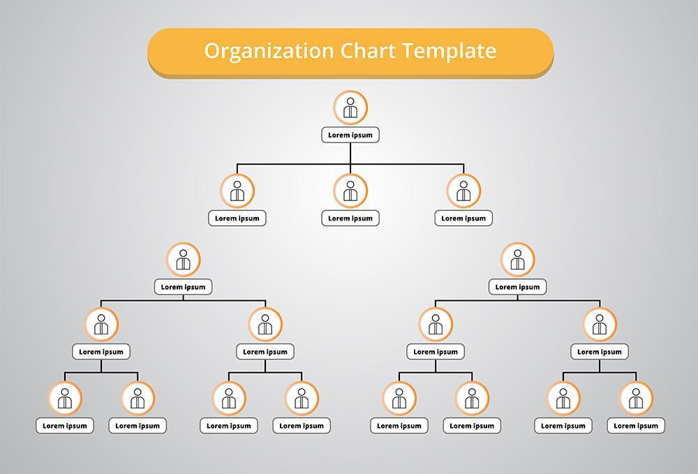 Organization Chart with People Icons vector