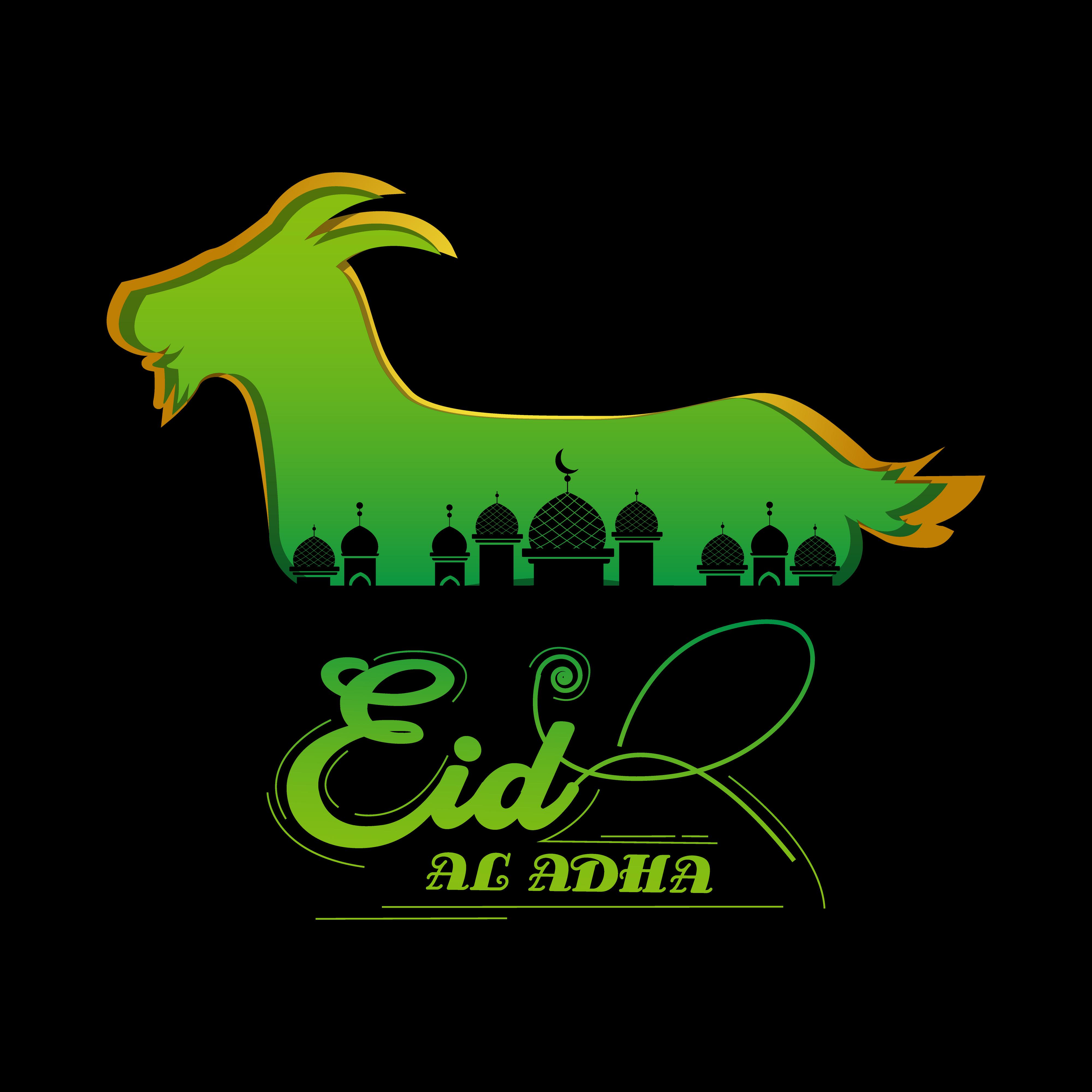 eid al adha design greeting card design template