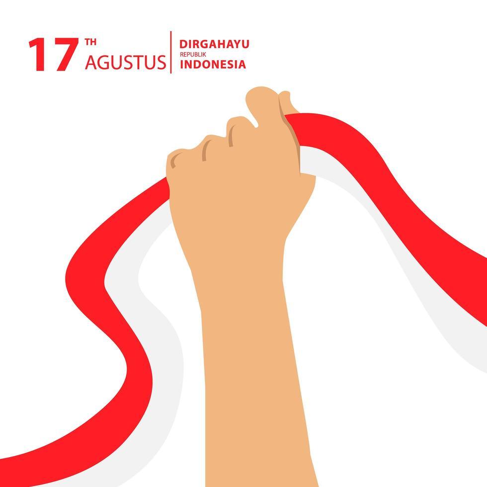 joyeux jour de l'indépendance de l'indonésie vecteur