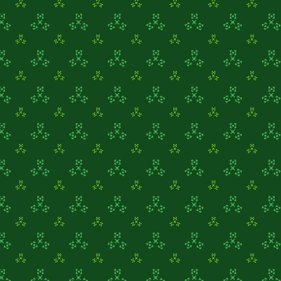 bonito diseño de patrón verde vector