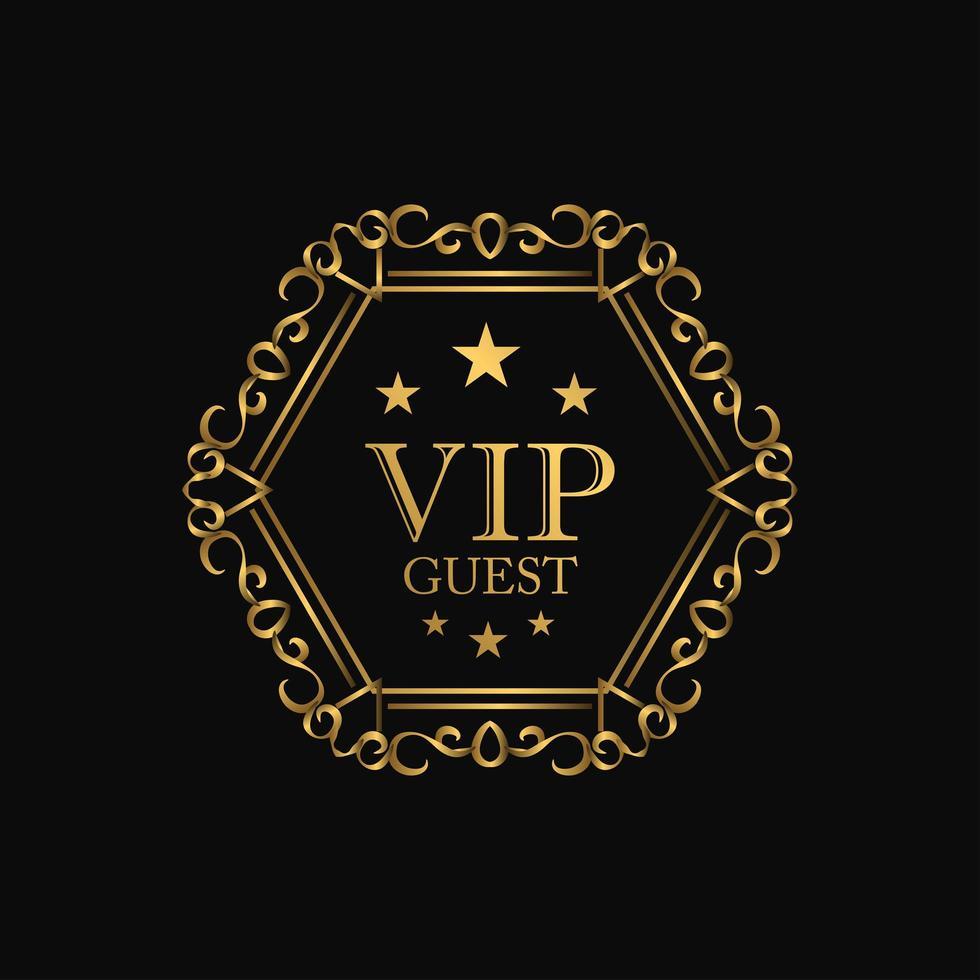 emblema de luxo premium vip vetor