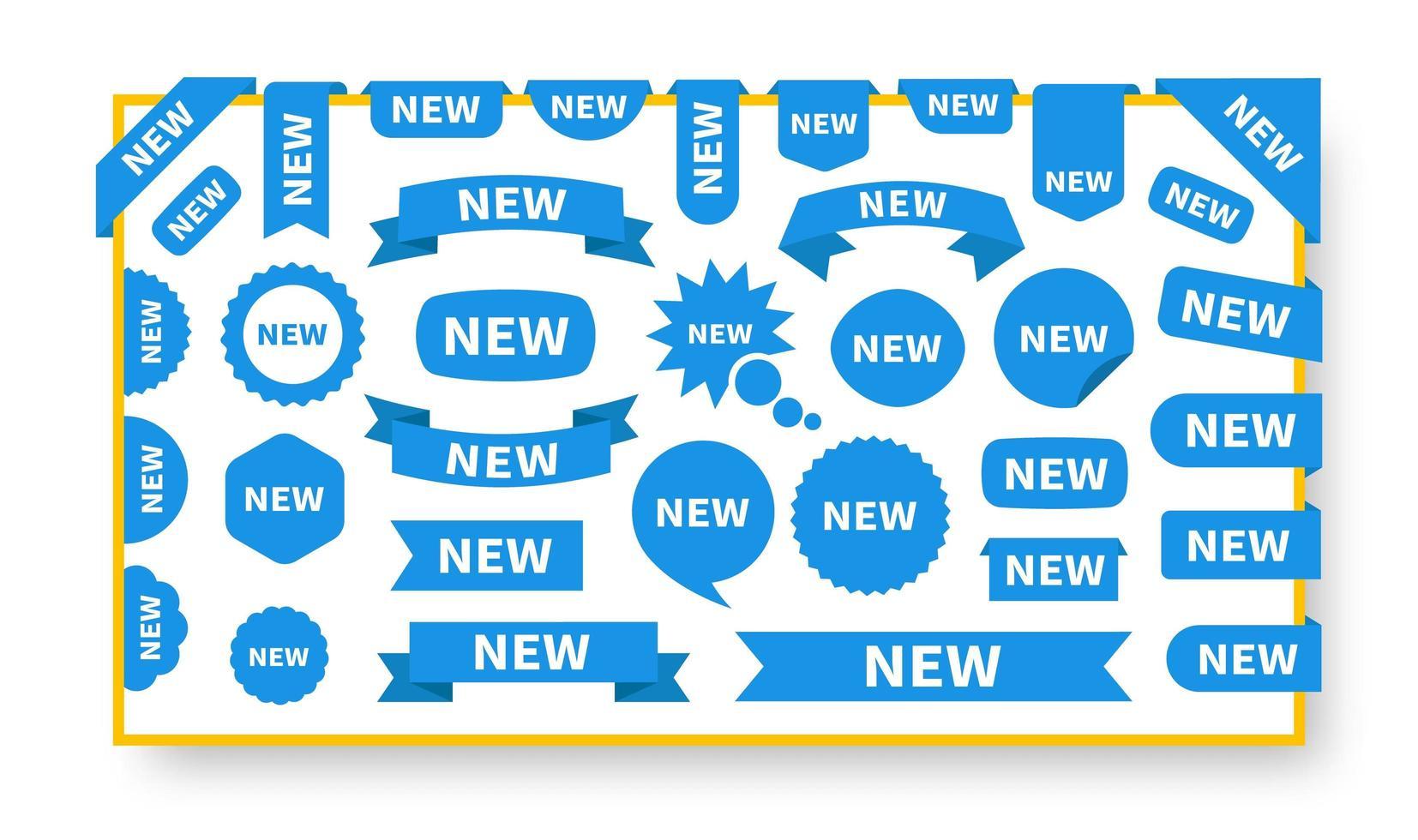 nieuwe stickers en labels ingesteld vector