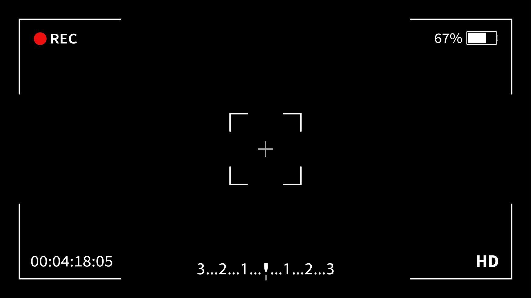 Schnittstellensucher Digitalkamera vektor