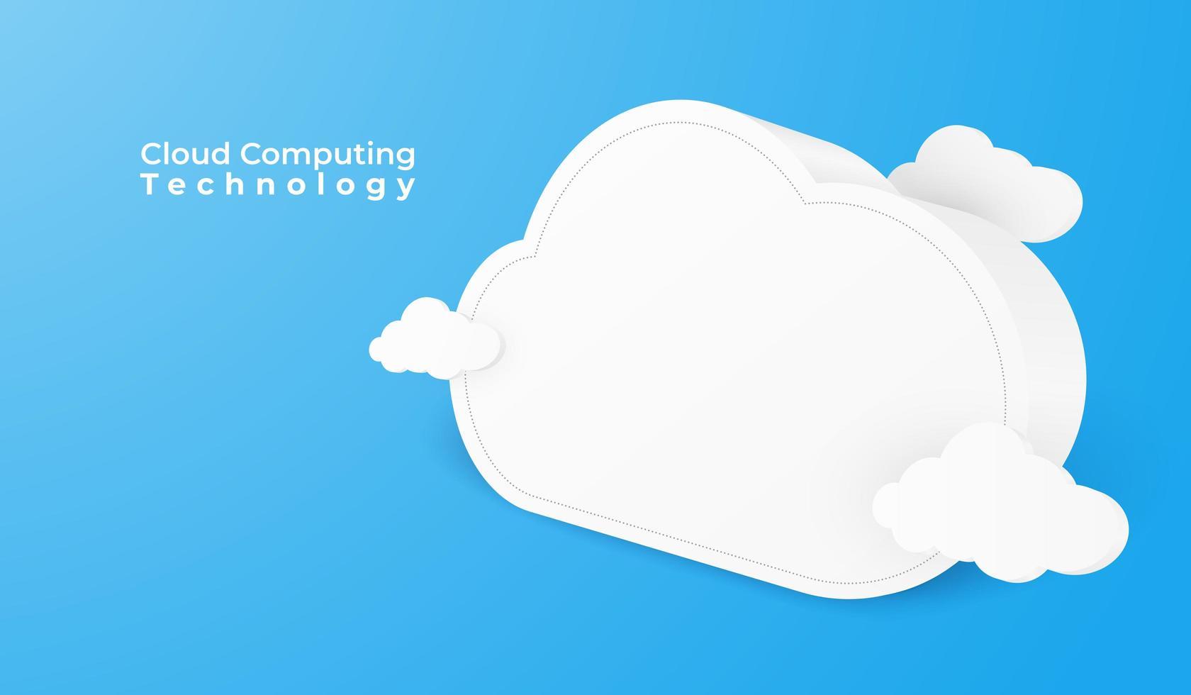 Perspectiva de nuvem 3D em azul vetor