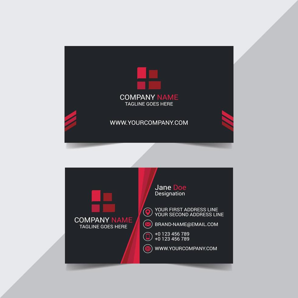 Commercial Business Card  vector