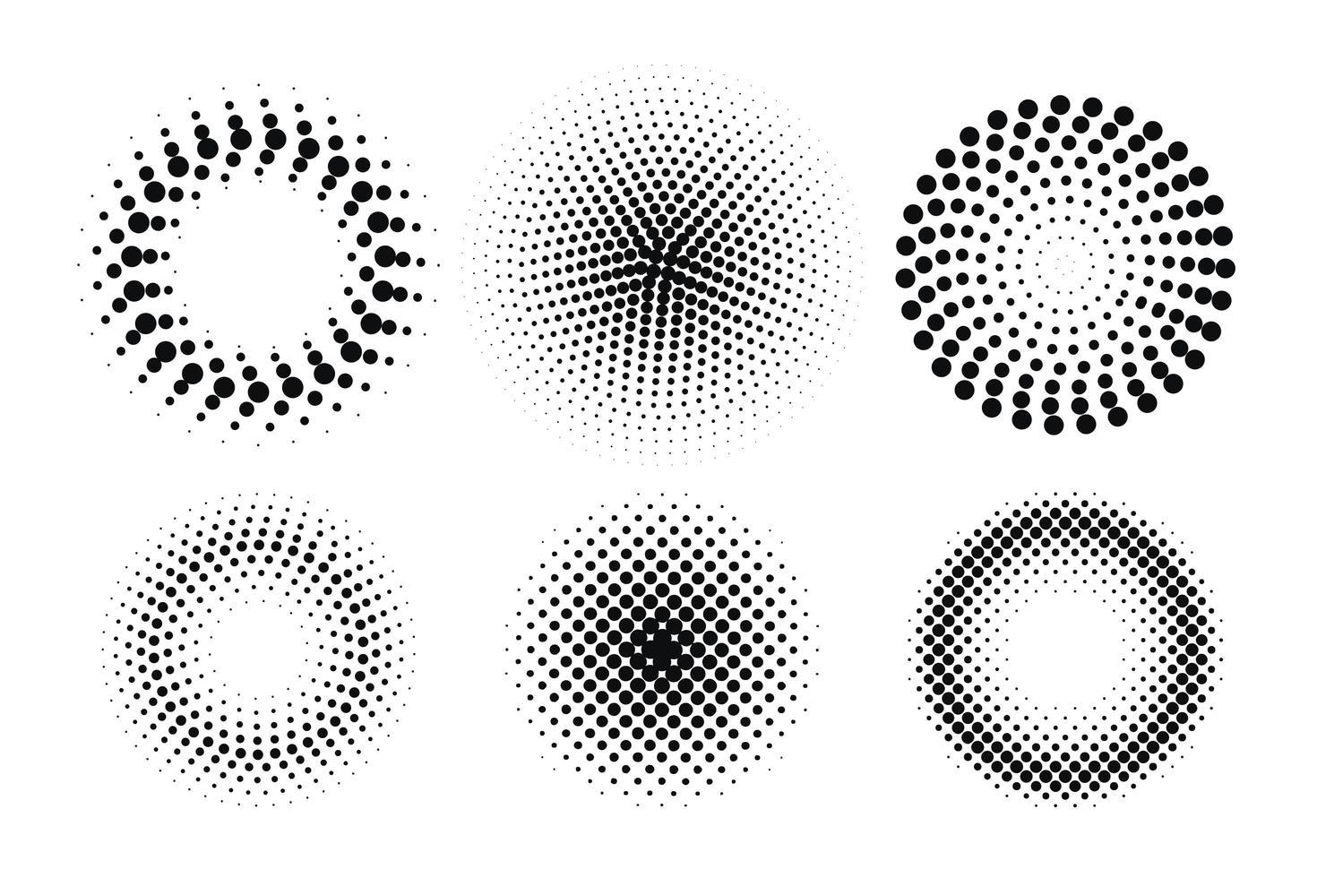 Circle Halftone Point Element vector