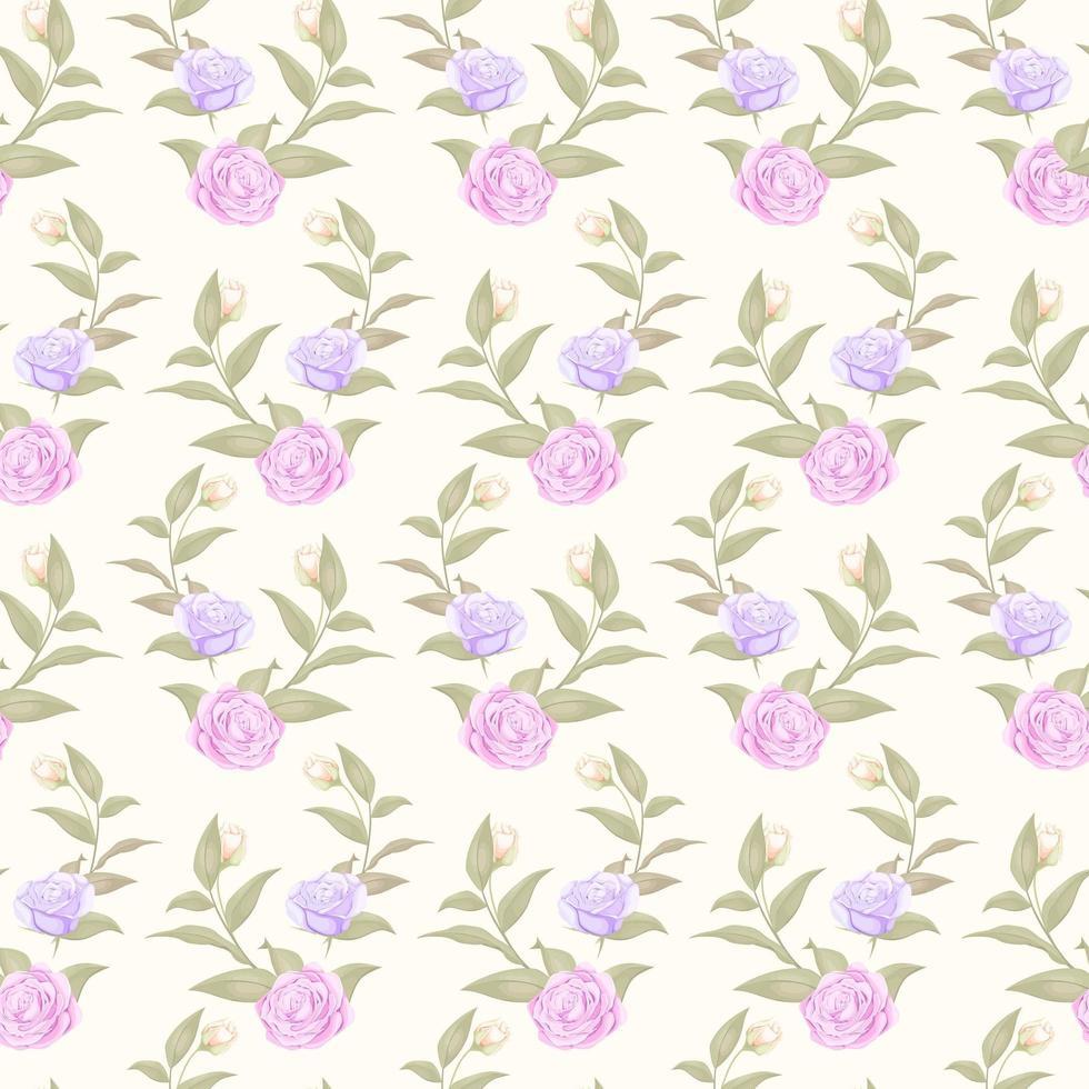 simple rosa pastel transparente y patrón de rosa púrpura vector