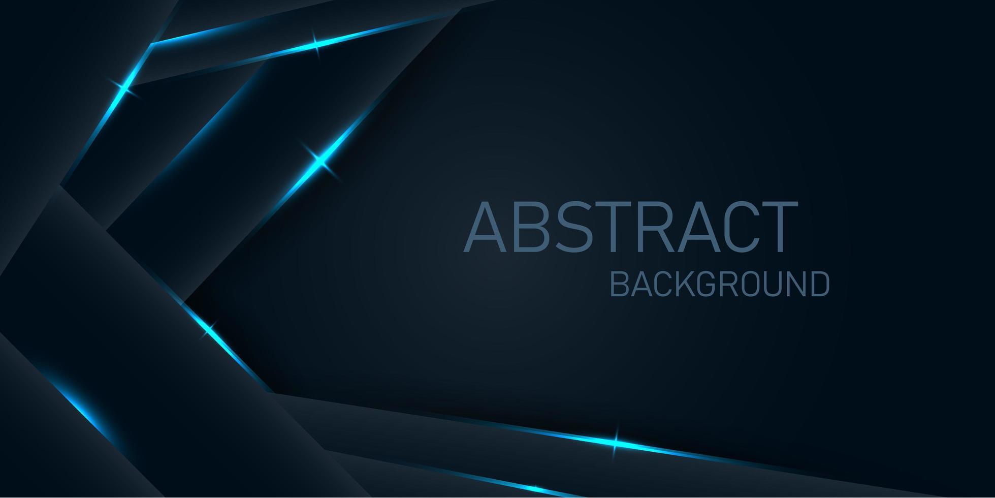 couches angulaires foncées avec des lumières bleu néon vecteur