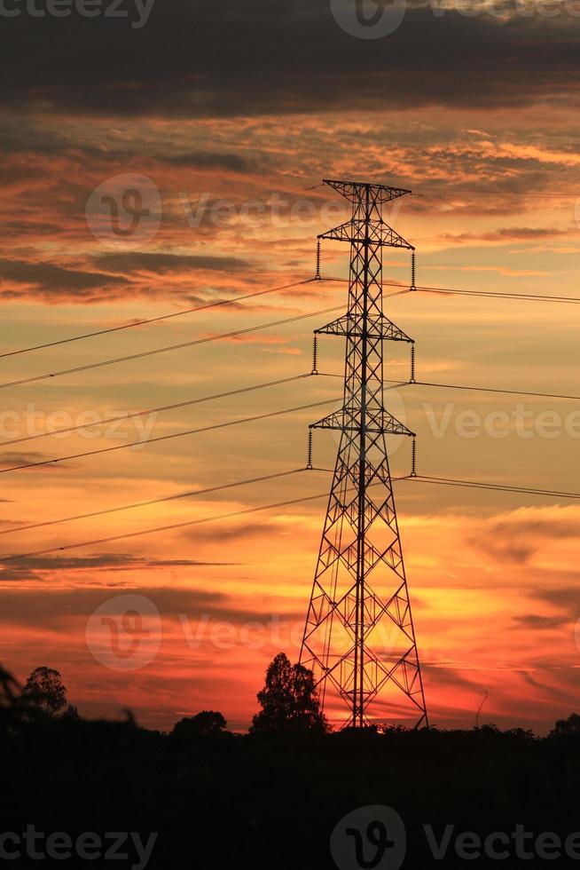 Electricity pylons photo