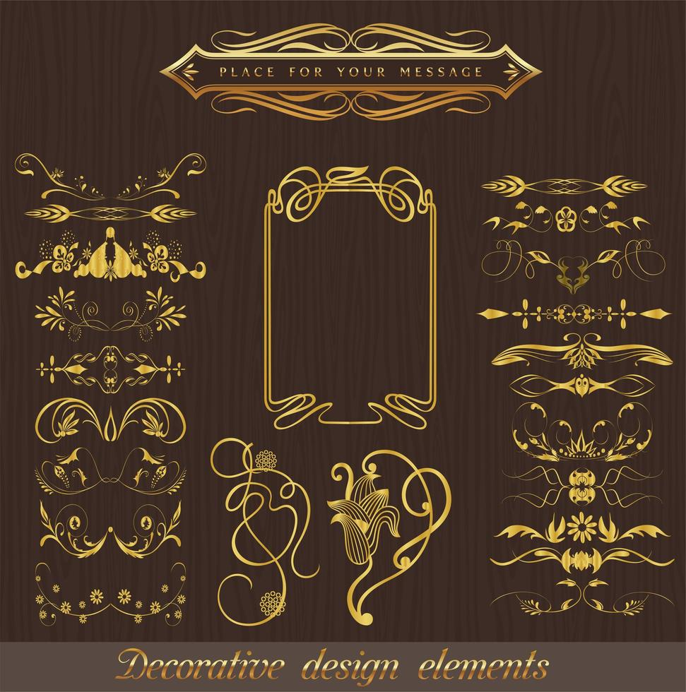 gekenmerkt klassieke decoratieve elementen set vector