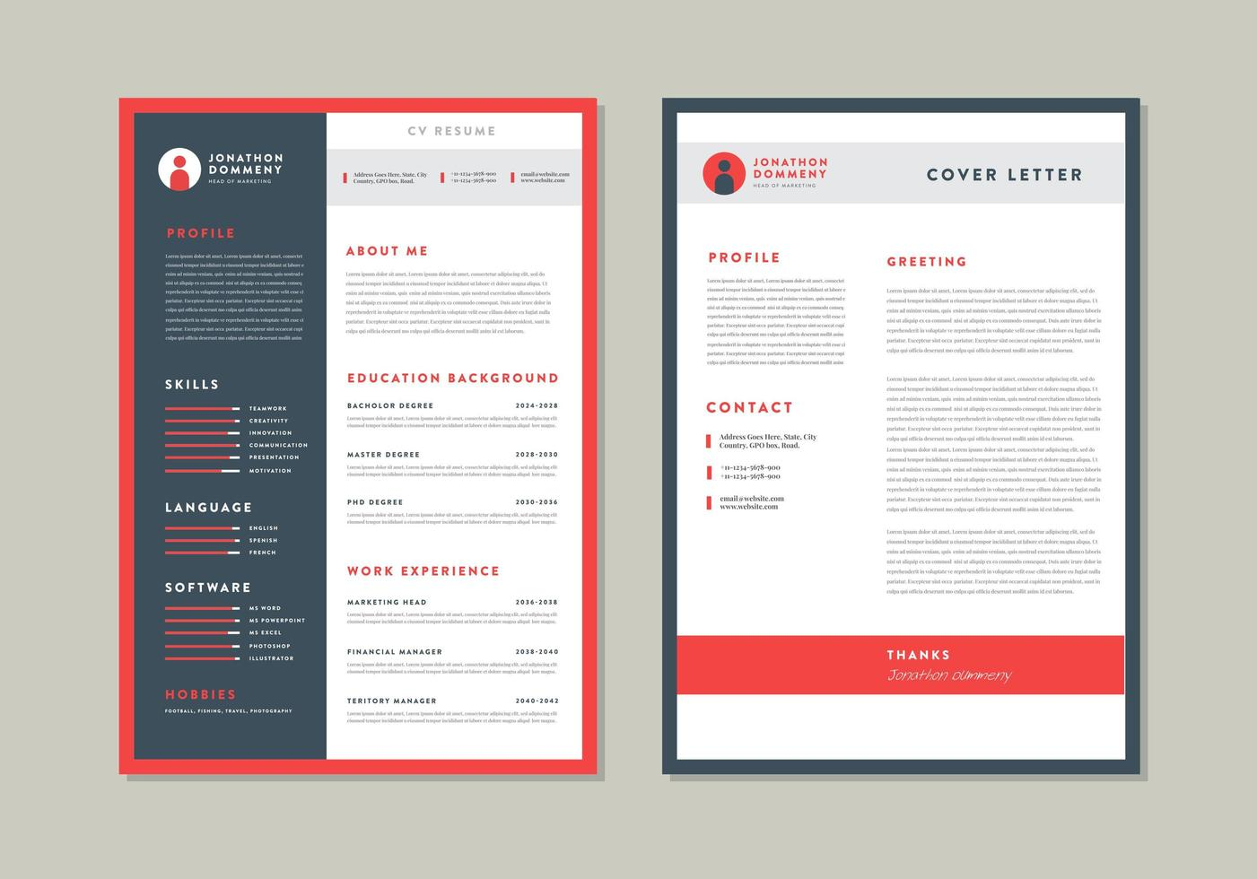 Cv Resume Template Design Download Free Vectors Clipart