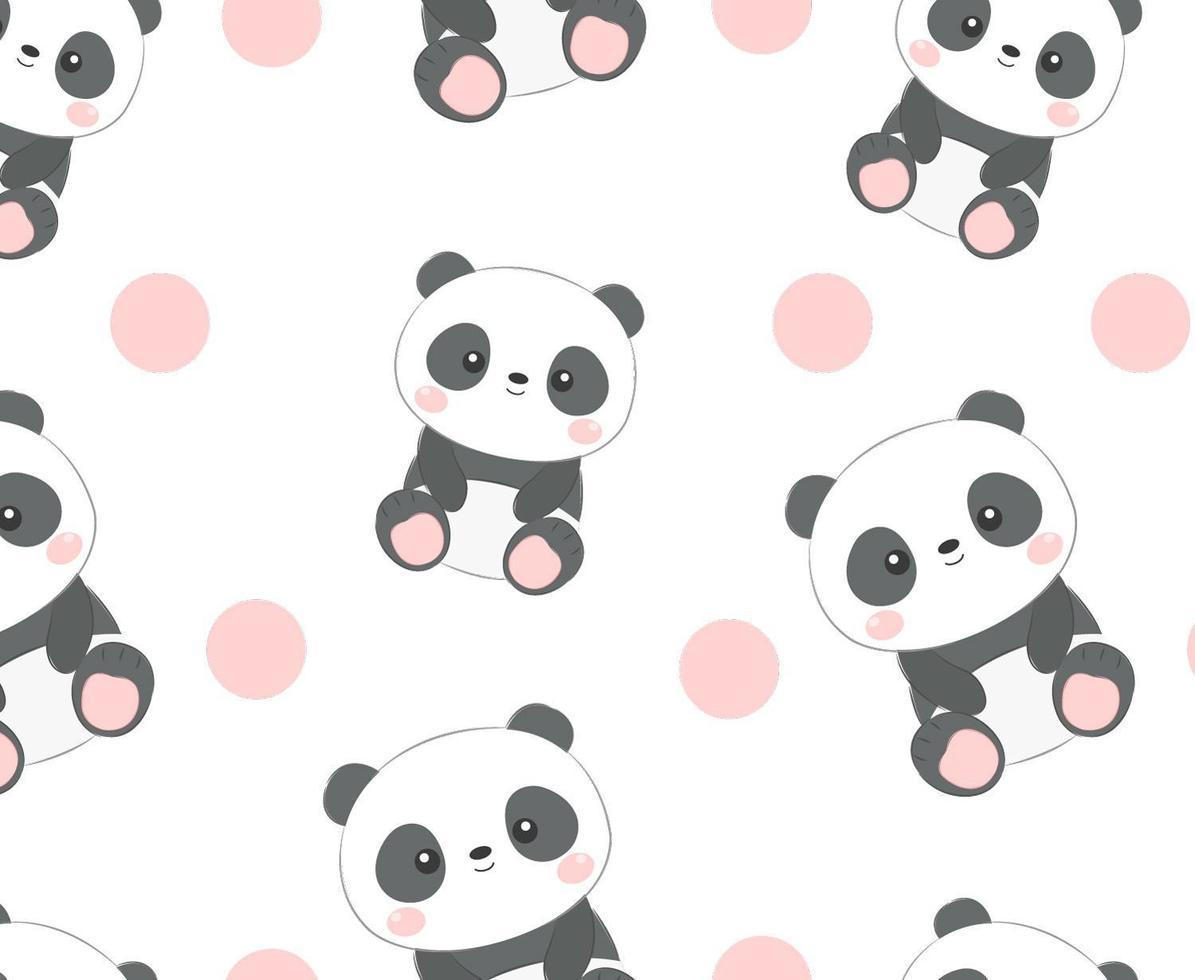 panda de patrones sin fisuras vector