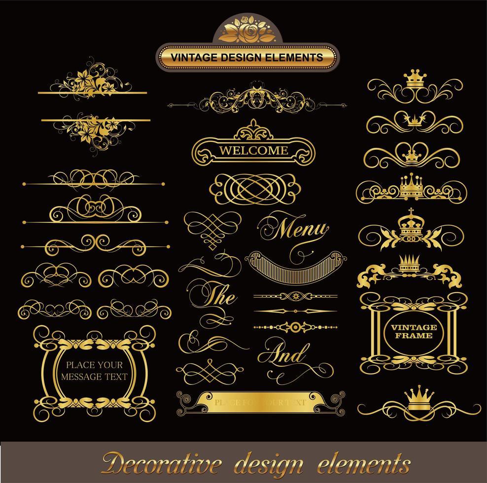padrões de linhas decorativas clássicas vetor