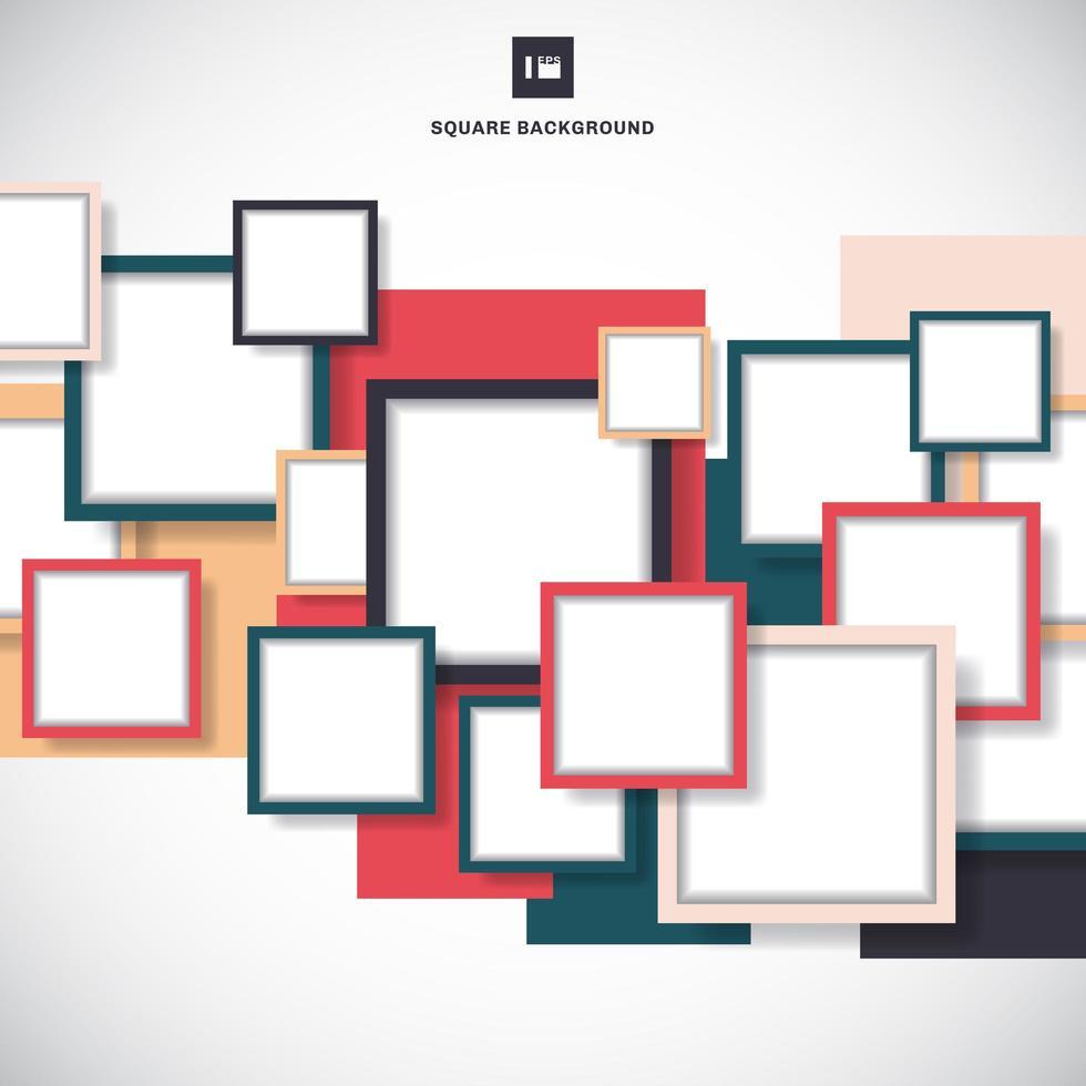 marco cuadrado abstracto superpuesto vector