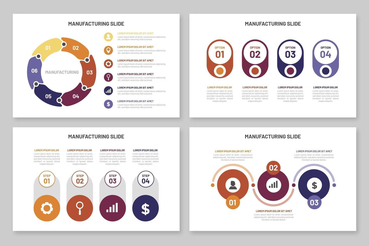 plantilla de fabricación de infografías vector
