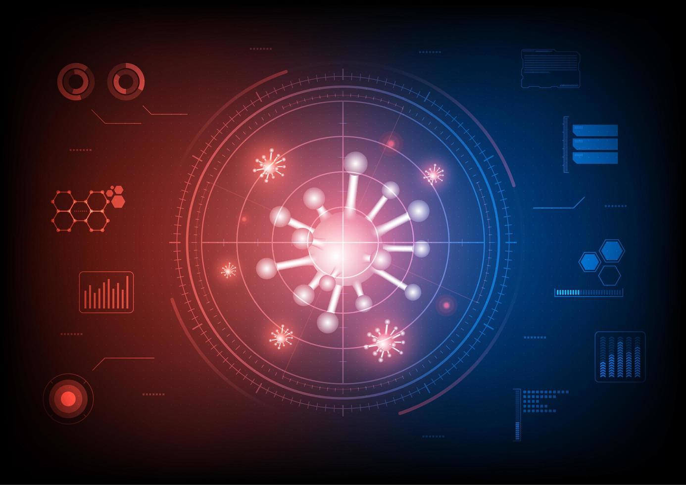 virus onderzoekende elementen vector
